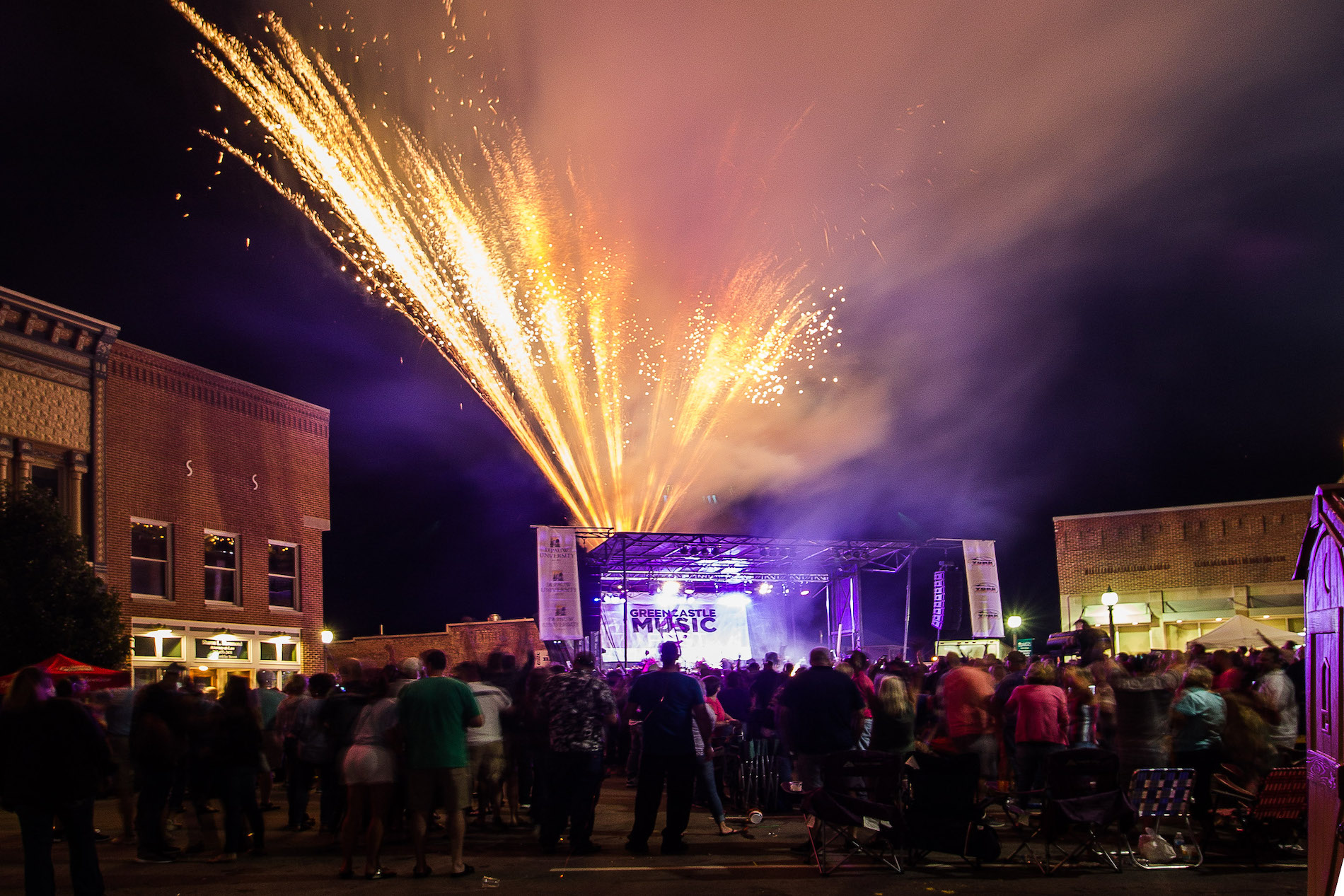 2019 Greencastle Music Fest Firework Photo